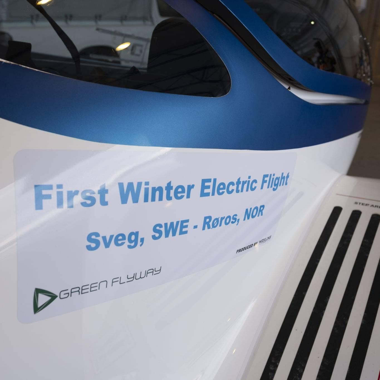Tsjekkiske PureFlight fløy det elektriske flyet ΦNIX fra Härjedalen Sveg Airport til Røros i Norge. Foto: Kurt Näslund