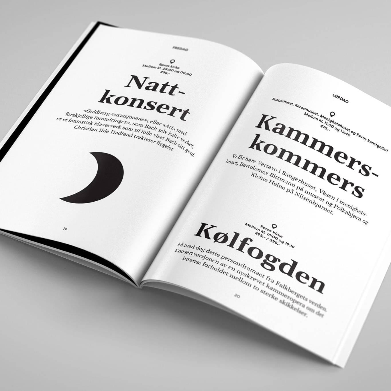 Festspillnote. Laget av Ren Røros Frontal.