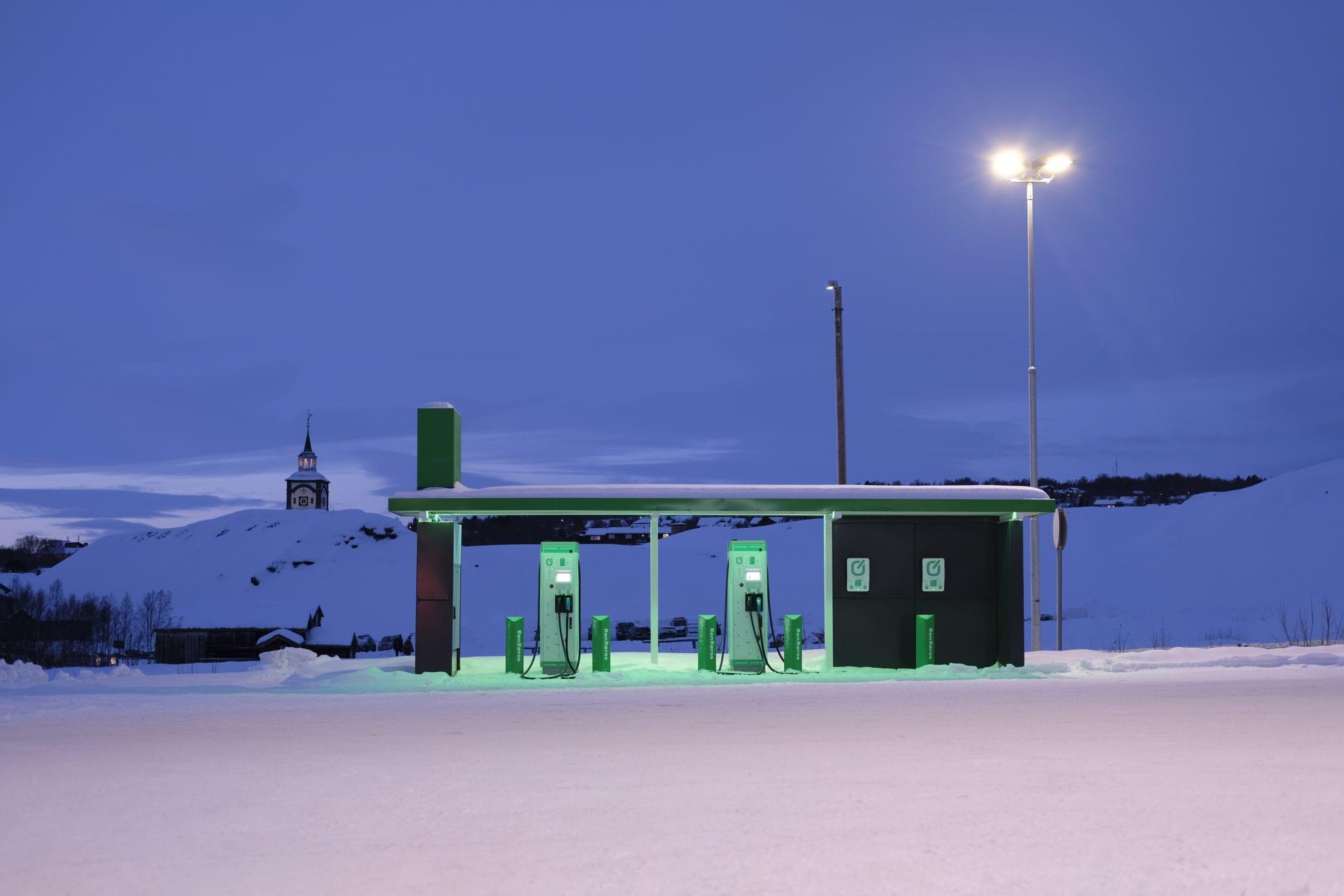 Ren Røros ladestasjon. Foto: Tom Gustavsen