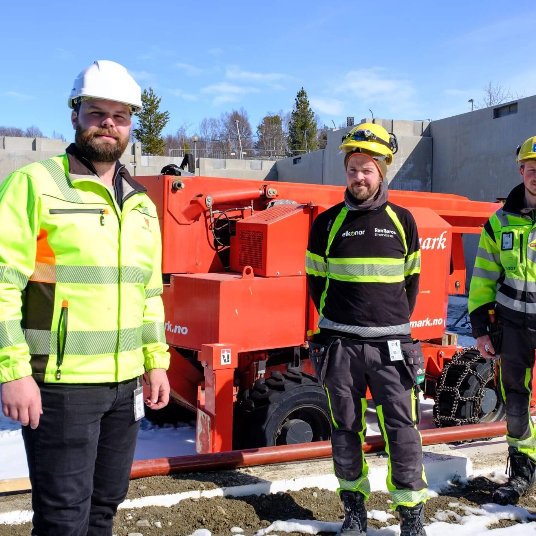 Tett samarbeid mellom Røros kommune og Ren Røros El-service. Foto: Jonas Jansen Ramsfjell/Ren Røros Frontal.