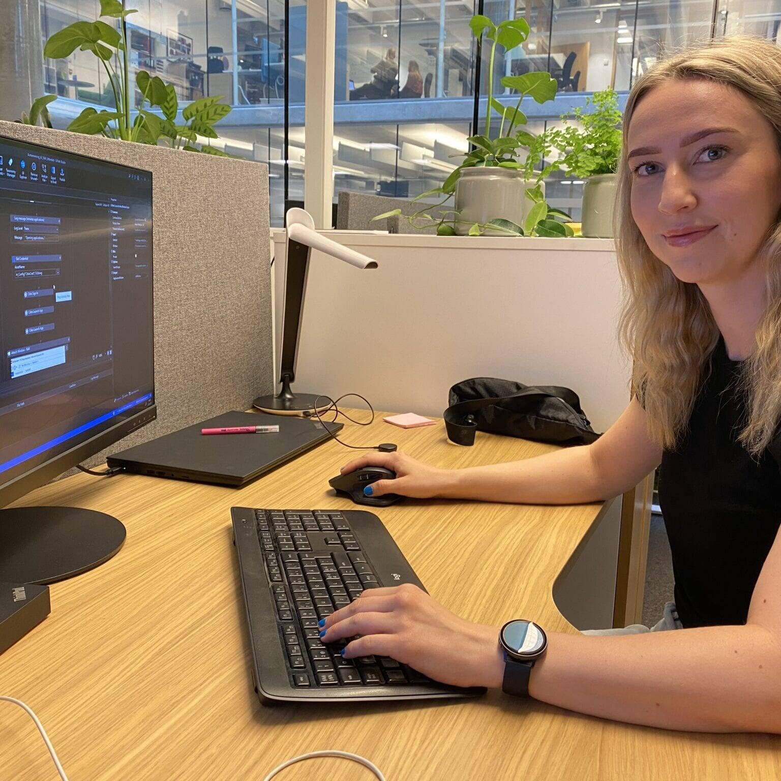 Camilla Haaheim Larsen i Ren Røros IA sier at avtalen med Fremo er et eksempel på mindre avtaler, gjerne som «robot as a service»